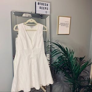 White Button Up Summer Dress Charlotte Russe